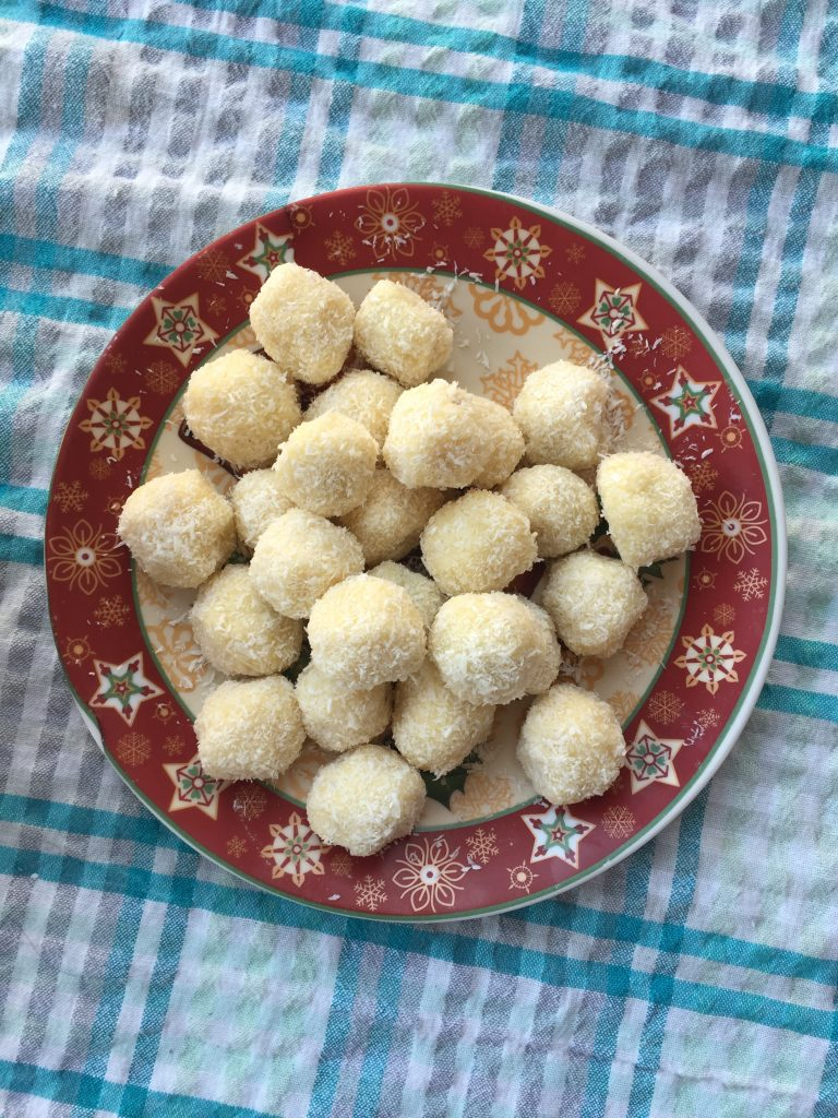White Chocolate Coconut Candies
