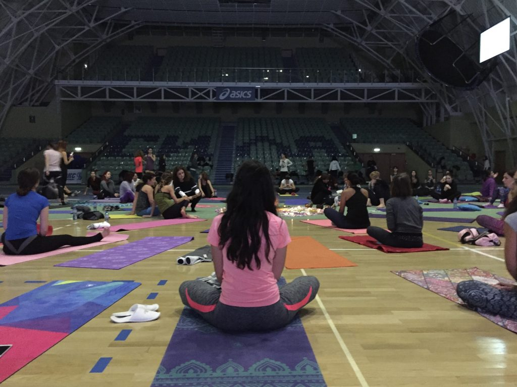 Yoga on the mat
