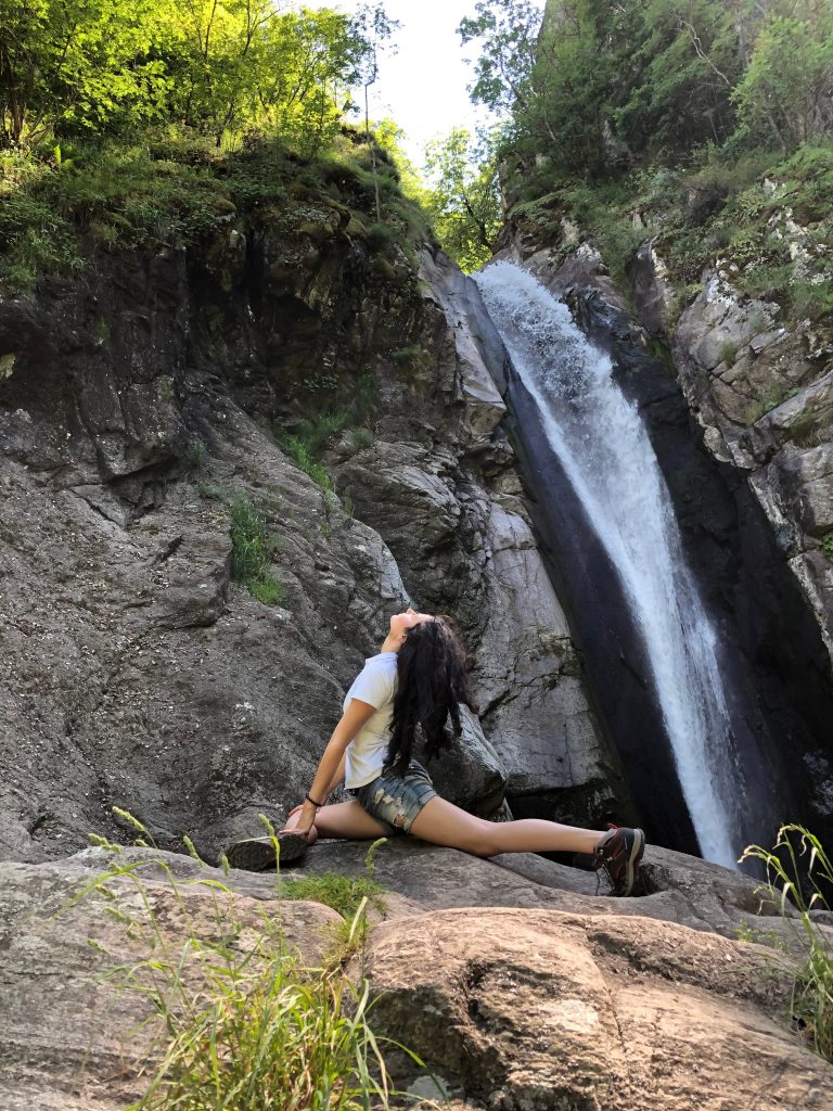 Yoga by the waterfall