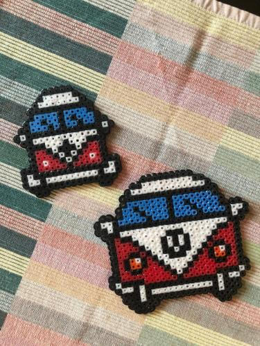 Pixel art plastic beads creativity for relaxation